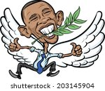 america,barack,branch,caricature,cartoon,character,democracy,dove,drawing,editorial,elected,emotion,expression,flying,government