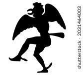 ancient greek man actor dancing ... | Shutterstock .eps vector #2031464003