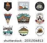 camping adventure badges logos... | Shutterstock . vector #2031506813