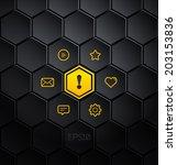infographic hexagons. vector...