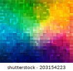abstract square mosaic.... | Shutterstock .eps vector #203154223