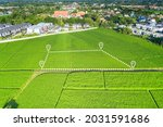 Land Plot In Aerial View....