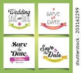 vector illustration. wedding... | Shutterstock .eps vector #203162299