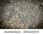 cracked ground for background | Shutterstock . vector #203163214