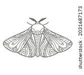 decorative fantastic moth.... | Shutterstock .eps vector #2031687173