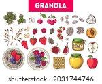 granola ingredients...   Shutterstock .eps vector #2031744746