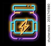 energy sport supplements neon...   Shutterstock .eps vector #2031745880