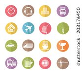 logistic and transport icons... | Shutterstock .eps vector #203176450