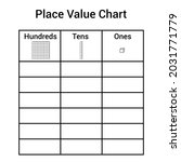 place value chart work. one... | Shutterstock .eps vector #2031771779