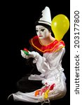 Crying Pierrot Clown Holding...