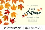 hello autumn sale background... | Shutterstock .eps vector #2031787496