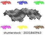 kyffhauserkreis district ... | Shutterstock .eps vector #2031860963