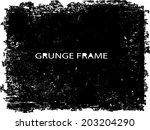 grunge frame. vector template  | Shutterstock .eps vector #203204290