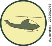 helicopter icon vector graphics ... | Shutterstock .eps vector #2032062086
