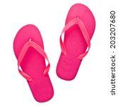 pink beach sandals flip flops ...