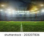 stadium with fans the night... | Shutterstock . vector #203207836