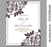 wedding invitation cards with... | Shutterstock . vector #203208460