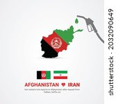 iran gives fuel afghanistan ... | Shutterstock .eps vector #2032090649