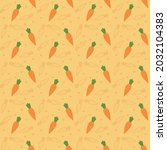 seamless pattern with carrots... | Shutterstock .eps vector #2032104383