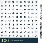 fashion icons vector set | Shutterstock .eps vector #203212858
