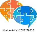 puzzle speech balloon icon set   Shutterstock .eps vector #2032178090
