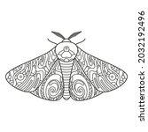 decorative fantastic moth.... | Shutterstock .eps vector #2032192496