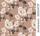 seamless floral pattern ... | Shutterstock .eps vector #203224729