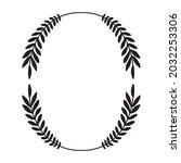 laurel wreath. vector hand...   Shutterstock .eps vector #2032253306