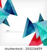 vector 3d geometric shape... | Shutterstock .eps vector #203226859