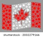 mosaic waving canada flag... | Shutterstock .eps vector #2032279166