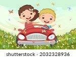 childrens adventure in small... | Shutterstock .eps vector #2032328936