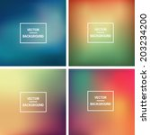 Abstract colorful blurred vector backgrounds. Vector timeline template.  Elements for your website or presentation. Gui.  Homepage