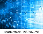 financial data on a monitor | Shutterstock . vector #203237890