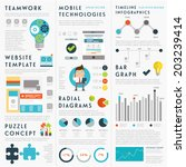 set of infographic elements....