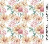 watercolor seamless pattern... | Shutterstock . vector #2032444883