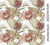 watercolor seamless pattern.... | Shutterstock . vector #2032447649
