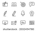 blog linear vector icons...