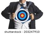 Businessman Showing A Target...