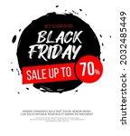 black friday inscription on...   Shutterstock .eps vector #2032485449