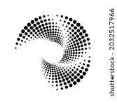 black concentric halftone...   Shutterstock .eps vector #2032517966