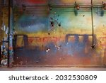 Colorful Grungy Wall With...