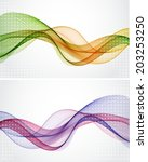 abstract waves | Shutterstock .eps vector #203253250