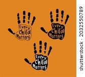 every child matters design... | Shutterstock .eps vector #2032550789