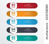 design clean number banners... | Shutterstock .eps vector #203258080