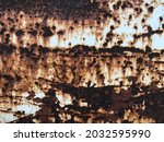 old rusty metal wall texture...   Shutterstock . vector #2032595990