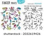 finger prints art. the task... | Shutterstock .eps vector #2032619426