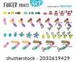 finger prints art. the task... | Shutterstock .eps vector #2032619429