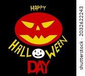 halloween vector  scary pumkins ... | Shutterstock .eps vector #2032622243