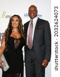 Small photo of LOS ANGELES - AUG 20: Cecilia Gutierrez, Byron Scott at the 21st Annual Harold and Carole Pump Foundation Gala at the Beverly Hilton Hotel on August 20, 2021 in Beverly Hills, CA