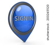 sign in pointer icon on white... | Shutterstock . vector #203265520